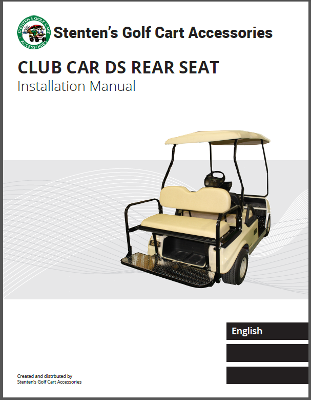 Club Car DS Rear Seat Instructions