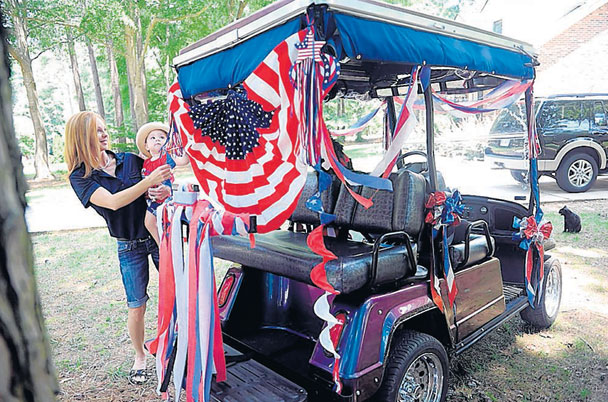 Golf Cart Decorations For Th Of July on betty boop july 4th, golf cart decorating ideas, golf cart christmas sleigh,