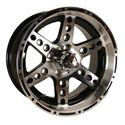 Picture of 14x7 Dominator Machined w/Black Wheel Assembly