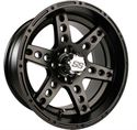 Picture of 14x7 Dominator Matte Black Wheel Assembly