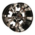 "Picture of Wheel Only - 12"" - Vampire Mach/Blk 3+4 Offset"