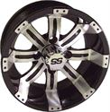 """Picture of Wheel Only - 12"""" - Tempest Machined/Blk 2+4 Offset"""
