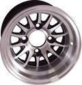 "Picture of Wheel Only - 10"" - Medusa Machined/Blk w/3+4 offset"