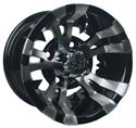 "Picture of wheel Only - 10"" - Vampire Machined/Blk w/ 3+4 Offset"