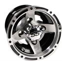 """Picture of Wheel Only - 8"""" - Ranger Machined/Blk w/ 3+4 Offset"""