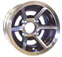 """Picture of Wheel Only - 10"""" - Evader Machined w/Black"""