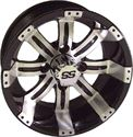 "Picture of Wheel Only - 10"" - Tempest 8 Spoke Mach/Blk 3+4 Offset"