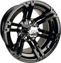 "Picture of Wheel Only - 12"" - Specter Black Wheel w/ 3+4 Offset"