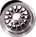 """Picture of Wheel Only - 12"""" - Medusa Machined/Blk w/3+4 Offset"""