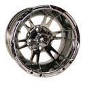 "Picture of Wheel Only - 12"" - Yellow Jacket Mirrored w/ 3+4 Offset"