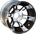 "Picture of Wheel Only - 12"" - Yellow Jacket Blk/Machined 3+4 Offset"