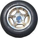 Picture of Tire / Wheels Assembly - 10x7 New Edition - Gold & Silver