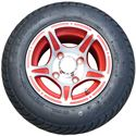 Picture of Tire / Wheel Assembly - 10x7 New Edition - Red & Silver