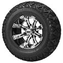 Picture of Tire / Wheel Assembly - 12x7 Typhoon Black Machined