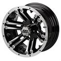 "Picture of Tire/Wheel Combo - 10"" - Buccaneer Machined/Black"