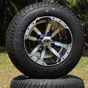 "Picture of Tire/Wheel Combo - 10"" - Crusader Machined/Black"