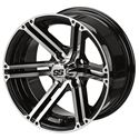 "Picture of Tire/Wheel Combo - 10"" - Phantom Machined/Black"