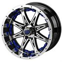"Picture of Tire/Wheel Combo - 12"" - Avenger Machined/Black"