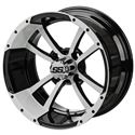 """Picture of Tire/Wheel Combo - 14"""" - Crusader Machined/Black"""