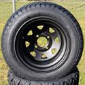 "Picture of Tire/Wheel Combo - 12"" - Matte Black Spoke"
