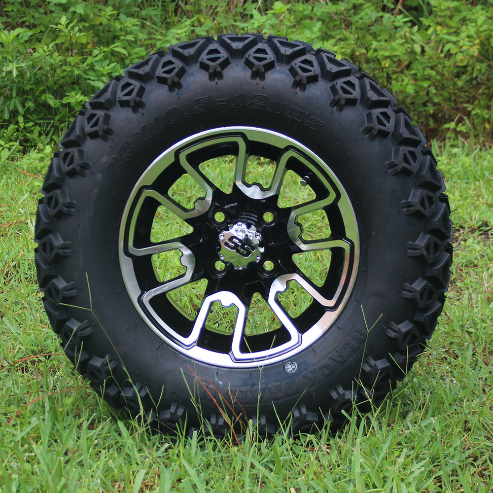 """Picture of Tire/Wheel Combo - 12"""" - Cloverfield"""