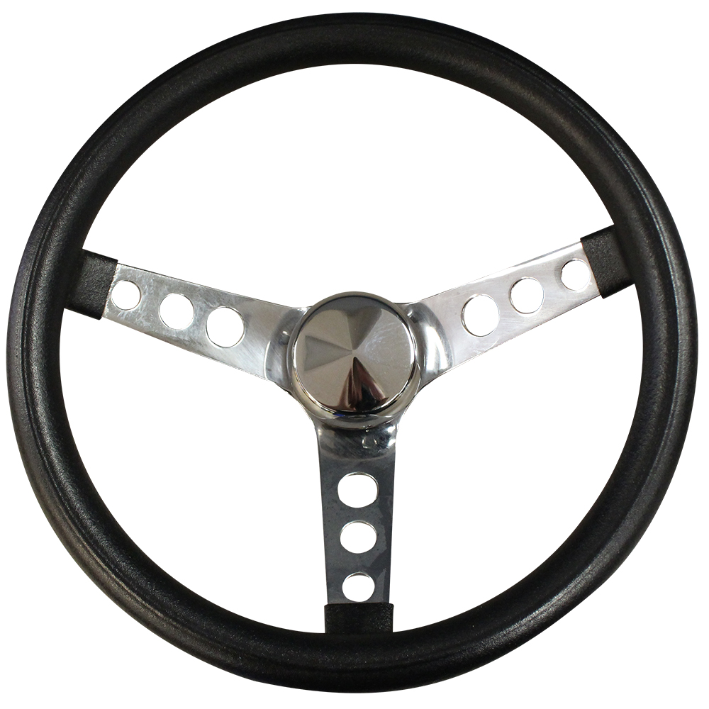 Picture of Steering Wheel - Classic Series - Chrome w/ Black