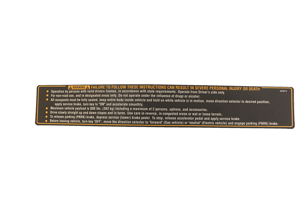 Picture of Safety Decal - TXT