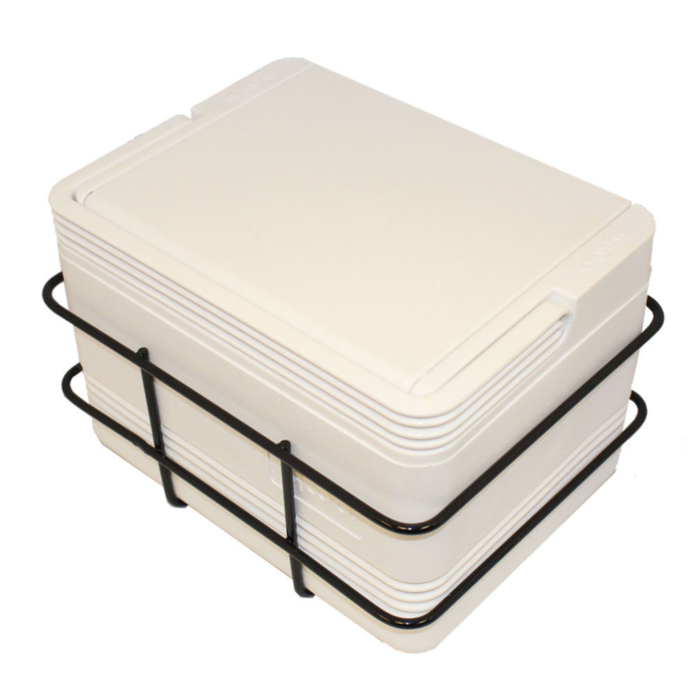 Picture of Cooler - 6pk & Basket - White
