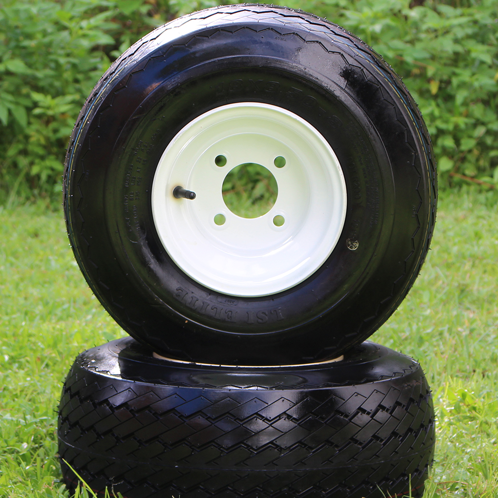 """Picture of Tire/Wheel Combo - 8"""" - White Steel"""