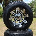 "Picture of Tire/Wheel Combo - 10"" - Typhoon Machined/Black"