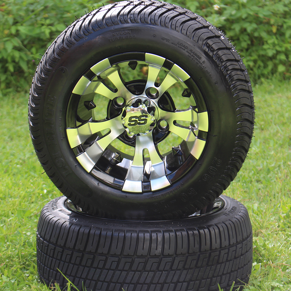 "Picture of Tire/Wheel Combo - 10"" - Goblin Machined/Black"