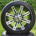 "Picture of Tire/Wheel Combo - 12"" - Typhoon Machined/Black"