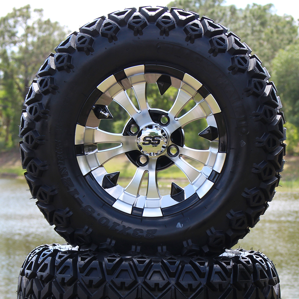 """Picture of Tire/Wheel Combo - 12"""" - Goblin Machined/Black"""