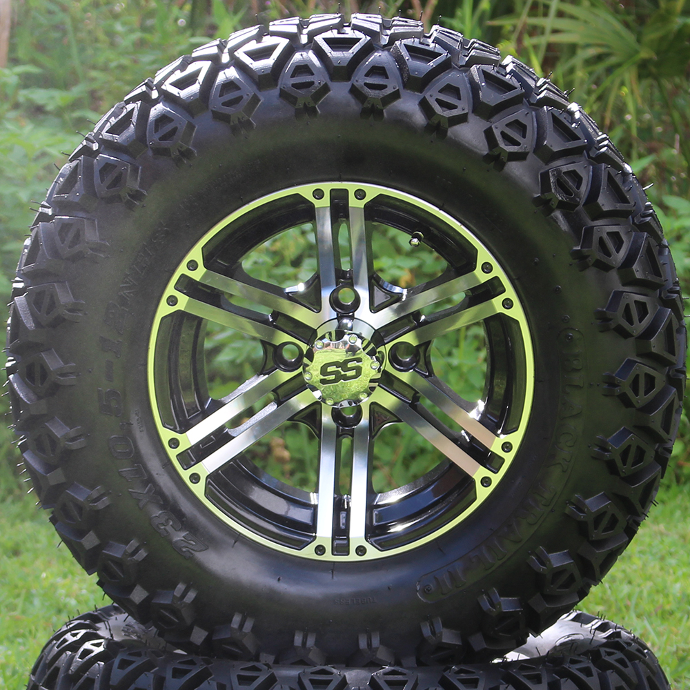 "Picture of Tire/Wheel Combo - 12"" - Phantom Machined/Black"