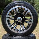 "Picture of Tire/Wheel Combo - 12"" - Buccaneer Machined/Black"