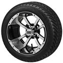 "Picture of Tire/Wheel Combo - 12"" - Crusader Machined/Black"