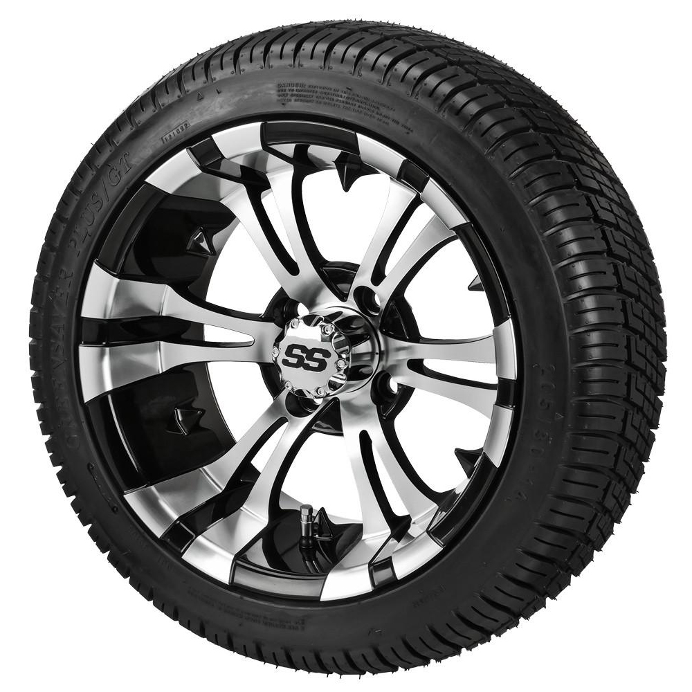 """Picture of Tire/Wheel Combo - 14"""" - Goblin Machined/Black"""