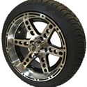 "Picture of Tire/Wheel Combo - 14"" - Terminator Machined/Black"