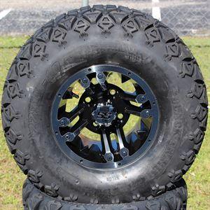 "Picture of Tire/Wheel Combo - 10"" - Buccaneer Machined/Black"