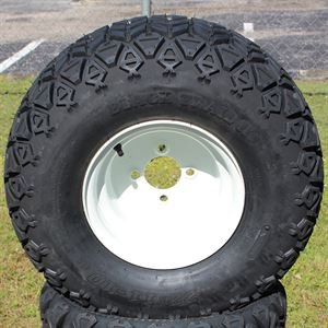 "Picture of Tire/Wheel Combo - 10"" - White Steel"