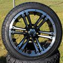 "Picture of Tire/Wheel Combo - 14"" - Buccaneer Machined/Black"