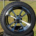 "Picture of Tire/Wheel Combo - 14"" - Crusader Machined/Black"