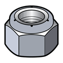 Picture of Hex Lock Nut - Nylon Insert - Stainless Steel 18-8